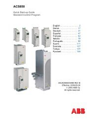 Quick Start-up Guide for ACS850 with Standard Control Program ...