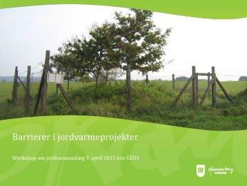 Barrierer i jordvarmeprojekter, Carsten VigenHansen - Regeocities