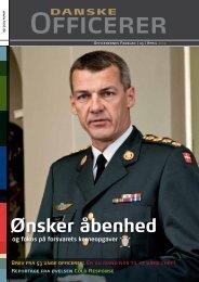 Ønsker åbenhed - Hovedorganisationen af Officerer i Danmark