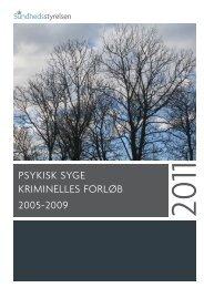 Psykisk syge kriminelles forløb 2005-2009 - Sundhedsstyrelsen