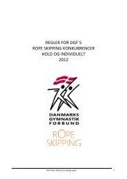 regler for dgf`s rope skipping konkurrencer hold og individuelt 2012