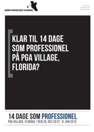 Klar til 14 dage som professionel på pga village, florida?