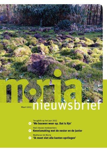 Nieuwsbrief maart 2013 - Stichting Moria
