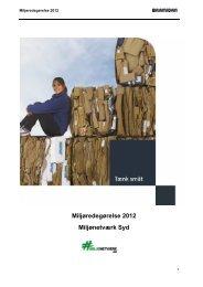 Miljøredegørelse 2012 Miljønetværk Syd