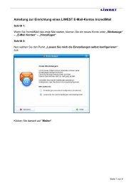 Anleitung zur Einrichtung eines LIWEST E-Mail-Kontos Incredimail