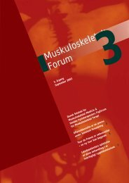 Muskuloskeletalt Forum - 3/2003 (pdf) - Fagforum for ...