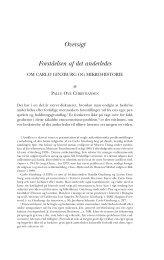 Oversigt Forståelsen af det anderledes - Historisk Tidsskrift