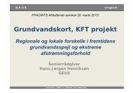 Grundvandskort, KFT projekt - hyacints.dk