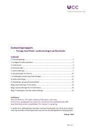 Evalueringsrapport. - Bornholms Regionskommune