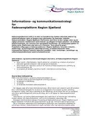 Informations- og kommunikationsstrategi for Fødevareplatform ...
