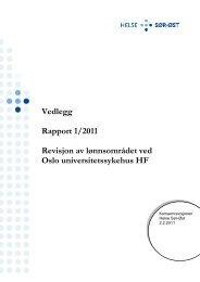 Vedlegg Rapport 1/2011 Revisjon av lønnsområdet ... - Helse Sør-Øst