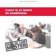 Hjælp til at skrive en ansøgning - Tech College Aalborg
