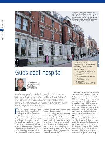 Guds eget hospital Af Steffen Hamann - Oftalmolog