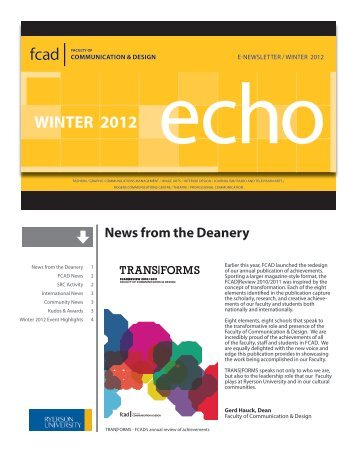 WINTER 2012 echo - Ryerson University