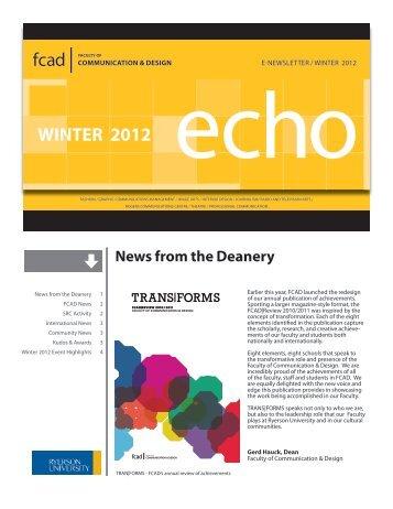 WINTER 2012 echo - Ryerson University
