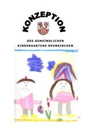 Kindergartenkonzeption 2007 - Neunkirchen/Unterfranken