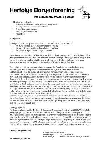 Formandens beretning 2007 - Herfølge Borgerforening