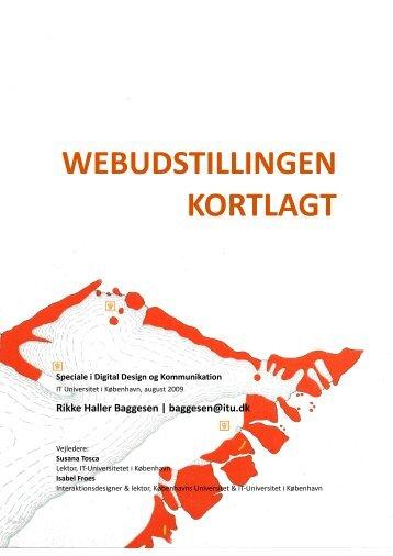 WEBUDSTILLINGEN KORTLAGT - Musings