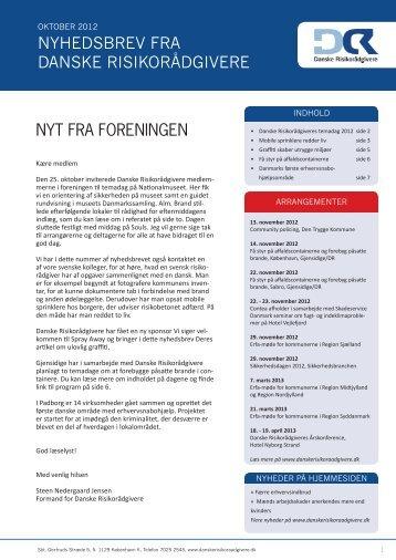 NYT FRA FORENINGEN Nyhedsbrev fra daNske risikorådgivere