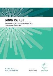 Debatoplæg Grøn vækst - udfordringer, muligheder ... - Statsministeriet