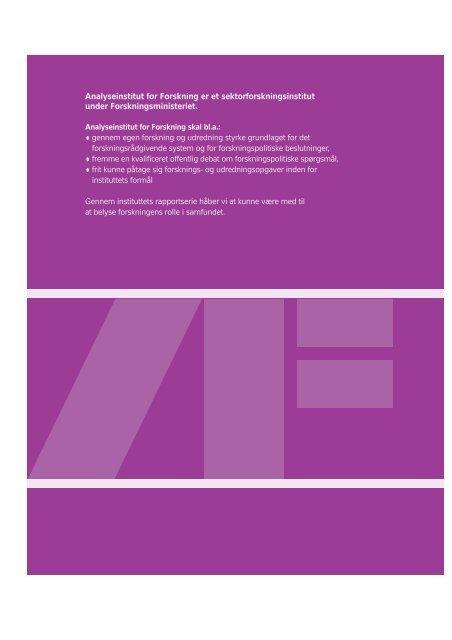 Rapp. nr. 10 Karen - analyseinstitut for forskning - Aarhus Universitet