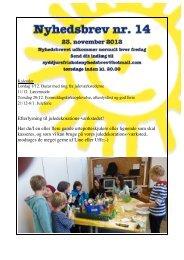Nyhedsbrev nr. 14 – 23. november 2012 - Syddjurs Friskole