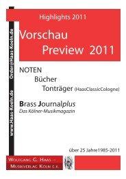 Vorschau Preview 2011