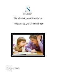 Metaforisk barnelitteratur - Universitetet i Stavanger