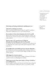 25. april 2013 Sags nr.: 023.81M.311 Orientering om flytning af ...