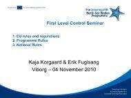 Kaja Korgaard & Erik Fuglsang Viborg - Interreg IVB North Sea ...