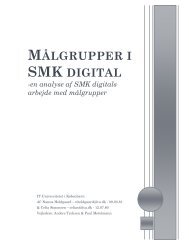 MÅLGRUPPER I SMK DIGITAL - Statens Museum for Kunst