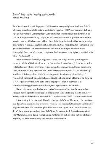 Baha'i i et mellemøstligt perspektiv