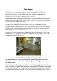 WarGames på Ungdomsgården - Nordre skole