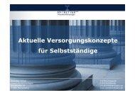 Aktuelle Versorgungskonzepte für Selbstständige - Antretter GmbH