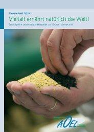 Vielfalt ernährt natürlich die Welt! - Assoziation ökologischer ...
