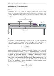 0BAcceleration på luftpudebænk - matematikfysik
