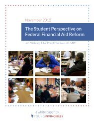 The Student Perspective on Federal Financial ... - Young Invincibles