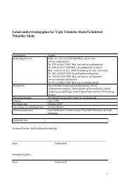 Lokal undervisningsplan for Vejle Tekniske Skole ... - Dokumenter