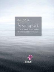 Statoil, Årsrapport 2012