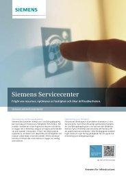 Siemens Servicecenter - Industry - Siemens