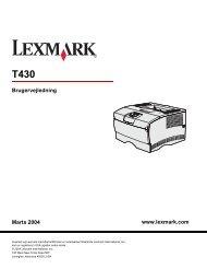 www.lexmark.com Brugervejledning Marts 2004