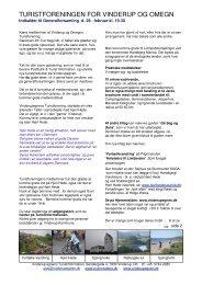 Medlemsbrev 2013 turist.pdf - Vinderup Turistinformation