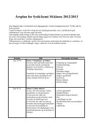 Årsplan for fysik/kemi 10.klasse 2012/2013 - Gribskov Efterskole