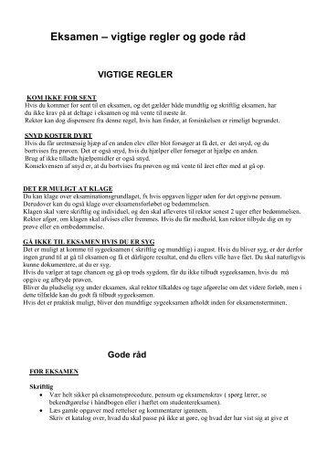 gode råd til dansk eksamen skriftlig