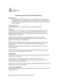 Gjeldende vedtekter for Windcluster Norway pr 18 april 2013