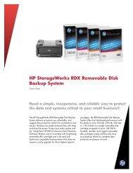 HP StorageWorks RDX Removable Disk Backup System Data sheet ...