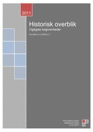 Historisk oversigt 2011 - Finn Dalum-Larsen skoleting