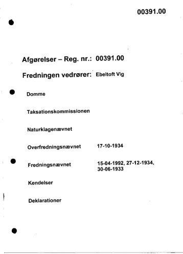 00391.00 Afgørelser - Reg. nr.: 00391.00 ... - Naturstyrelsen