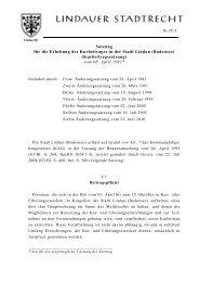 Kurbeitragssatzung - Lindau