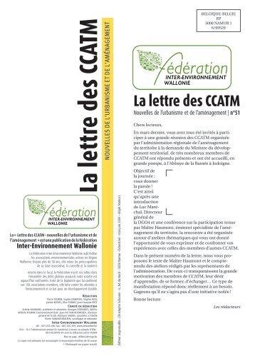 """numéro 51 de la """"Lettre des CCATM"""""""
